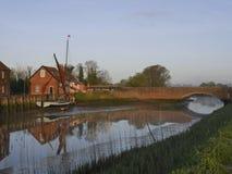 O cais - Maltings de Snape - Suffolk Fotografia de Stock Royalty Free