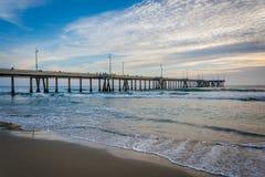 O cais na praia de Veneza, Los Angeles, Califórnia Fotos de Stock Royalty Free