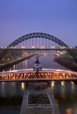 O cais, Newcastle em cima de Tyne Foto de Stock