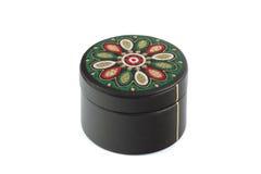 O caixão redondo cabido por uma pele preta. Imagem de Stock Royalty Free