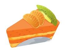 Slice of cake on white background royalty free illustration
