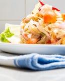 O calamar eggs a salada picante fotografia de stock