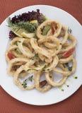 O calamari fritado soa a vista 4top Foto de Stock Royalty Free