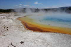 O caldera bonito no parque nacional de yellowstone Fotos de Stock