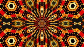 O caleidoscópio abstrato do techlonogy da simetria, 3d rende o contexto, geração do computador ilustração do vetor