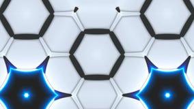 O caleidoscópio brilhante da simetria abstrata com flores geométricas, 3d rende o contexto, geração do computador ilustração do vetor