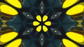 O caleidoscópio brilhante da simetria abstrata, 3d rende o contexto, geração do computador ilustração royalty free