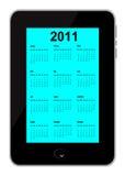 O calendário 2011 introduziu no telefone móvel Foto de Stock Royalty Free