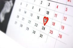 O calendário Fotografia de Stock Royalty Free