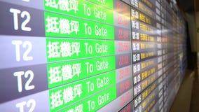 o calendário da programação de voo 4K de chegadas internacionais embarca o aeroporto de Taiwan filme
