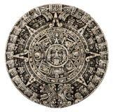 O calendário maia isolado no branco foto de stock