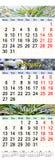 O calendário para julho August September 2017 com três coloriu imagens Foto de Stock