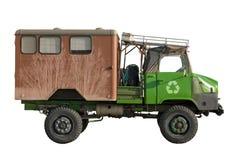 O caminhão com recicl o sinal Fotos de Stock Royalty Free
