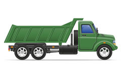 O caminhão da carga para o transporte dos bens vector a ilustração Fotos de Stock Royalty Free