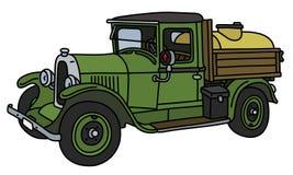O caminhão de tanque do vintage ilustração royalty free