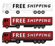 O caminhão livra o transporte Foto de Stock Royalty Free