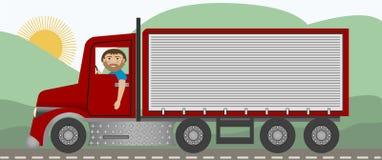 O camionista Fotos de Stock