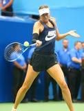 O campeão Maria Sharapova do grand slam de cinco vezes da Federação Russa pratica para o US Open 2017 imagens de stock royalty free