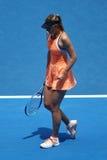 O campeão Maria Sharapova do grand slam de cinco vezes de Rússia na ação durante o fósforo do quartos de final no australiano abr Foto de Stock Royalty Free