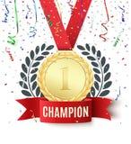 O campeão, vencedor, numera um molde do fundo ilustração stock