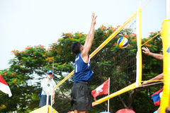 27o Campeonato asiático do sudeste do voleibol de praia. Fotos de Stock