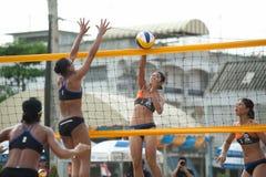 27o campeonato asiático do sudeste do voleibol de praia. Fotografia de Stock