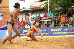 27o Campeonato asiático do sudeste do voleibol de praia. Fotografia de Stock Royalty Free
