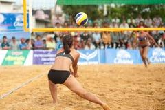 27o Campeonato asiático do sudeste do voleibol de praia. Fotos de Stock Royalty Free
