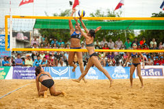 27o campeonato asiático do sudeste do voleibol de praia. Foto de Stock Royalty Free