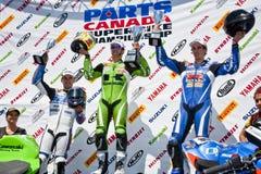 O campeonato de Canadá Superbike das peças (em volta de 1) pode Fotos de Stock Royalty Free
