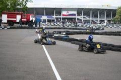 O campeonato karting Imagem de Stock
