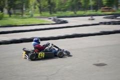 O campeonato karting Foto de Stock Royalty Free