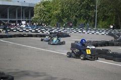 O campeonato karting Imagem de Stock Royalty Free