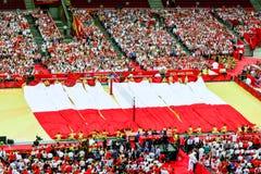 O campeonato mundial dos homens do voleibol, cerimônia de inauguração, Varsóvia, o 30 de agosto de 2014 Fotografia de Stock Royalty Free
