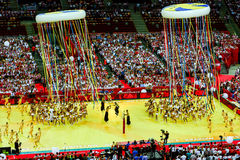 O campeonato mundial dos homens do voleibol, cerimônia de inauguração, Varsóvia, o 30 de agosto de 2014 Fotos de Stock Royalty Free