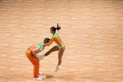 O campeonato mundial no rock and roll acrobático e no mundo domina a dança-woogie Imagem de Stock Royalty Free