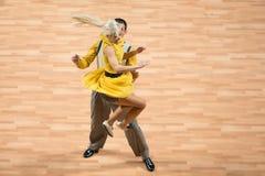 O campeonato mundial no rock and roll acrobático e no mundo domina a dança-woogie Imagens de Stock
