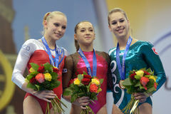 5o Campeonatos europeus na ginástica artística Fotos de Stock Royalty Free