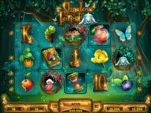 O campo de ação entalha o jogo para a interface de utilizador do jogo Foto de Stock