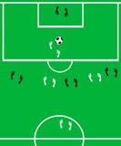 O campo de futebol. Imagens de Stock Royalty Free