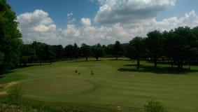 O campo de golfe imagem de stock