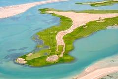 O campo de golfe do clube Fotografia de Stock Royalty Free