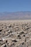 O campo de golfe do diabo; O Vale da Morte, Califórnia; EUA Foto de Stock Royalty Free