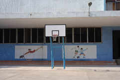 O campo de jogos da escola secundária em China Fotos de Stock