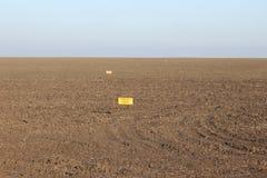 O campo de minas Mariupol Ucrânia oriental mina a guerra Imagem de Stock Royalty Free