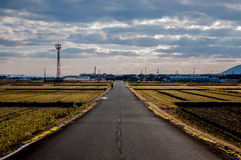 O campo em Takashima, Shiga, Japão Imagem de Stock Royalty Free