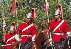 O canadense força o regimento do cavalo de Lord Strathcona Fotos de Stock Royalty Free