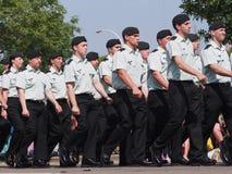 O canadense força soldados imagem de stock