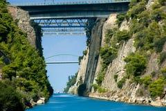 O canal de Corinth Foto de Stock Royalty Free