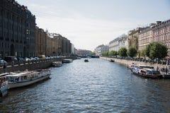 O canal de rio em St Petersburg Imagem de Stock